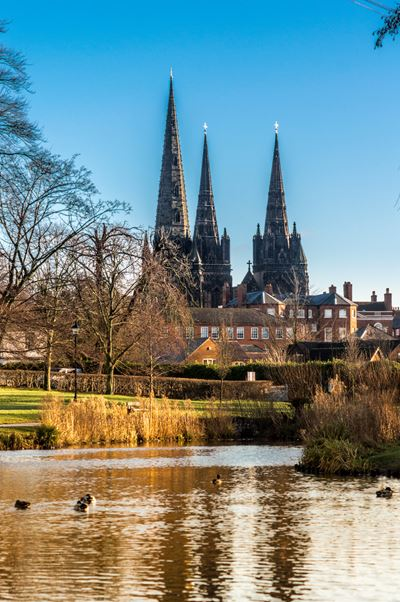 Lichfield Cathedral from Beacon Park