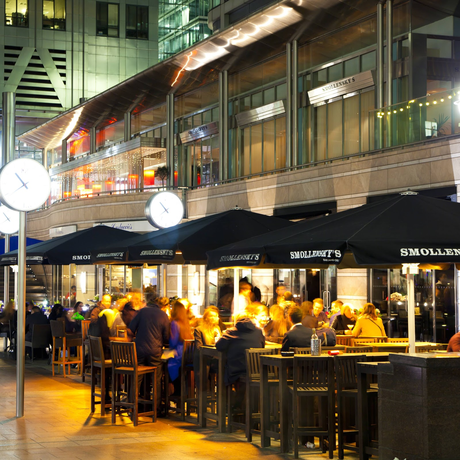 Canary Wharf Restaurant at Night
