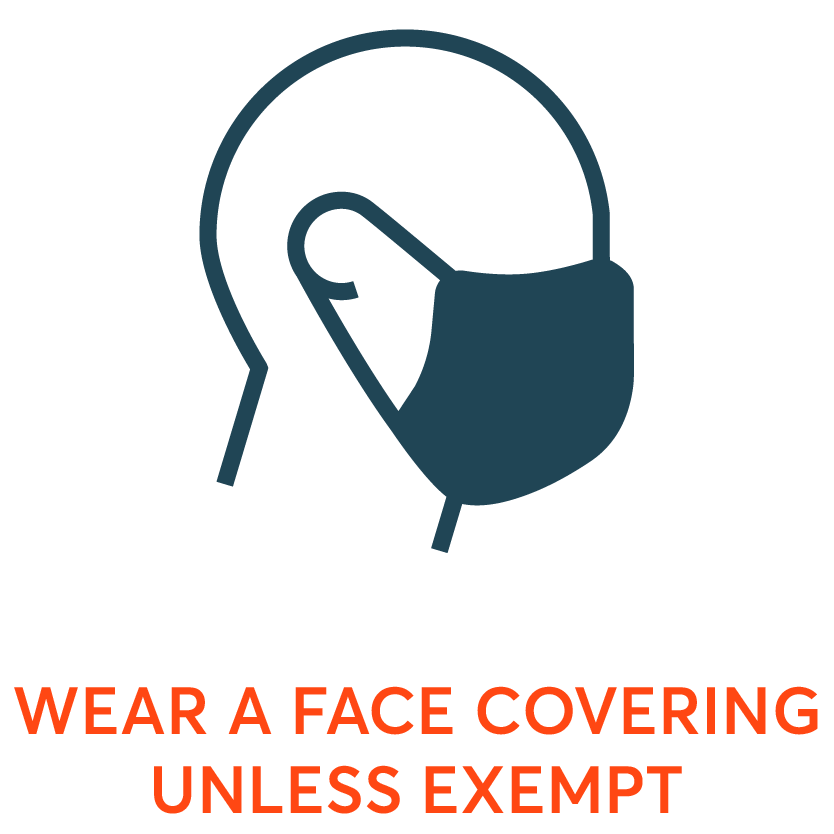 wear a face covering icon